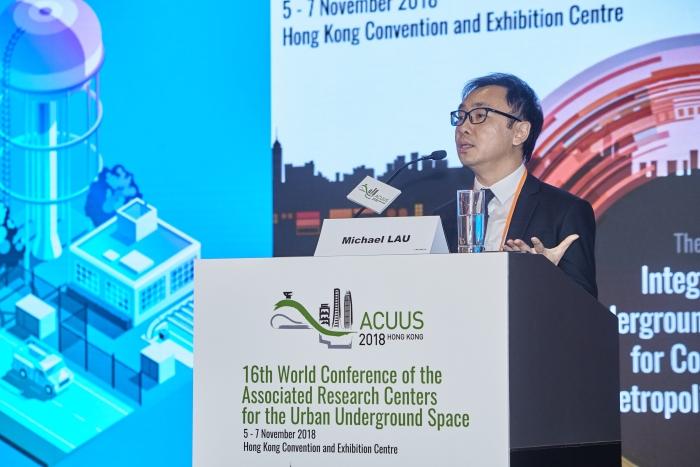 Senior GIS Solution Manger, Mr. Michael Lau, delivered a theme presentation at ACUUS